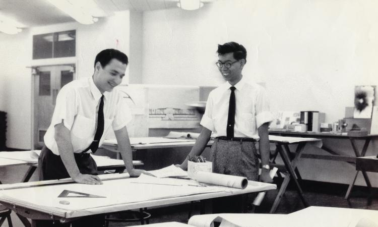 With architect Frank Wong, 1950 or 60s